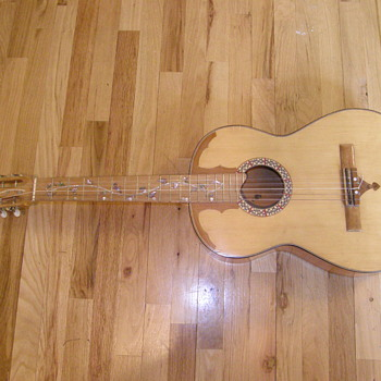 Vintage Unknown maker custom inlayed acoustic guitar
