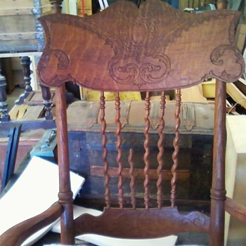 RESCUED .........OLD ROCKER - Furniture