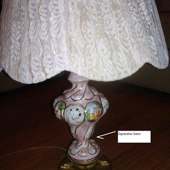Ceramic? Lamp from Italy - Lamps