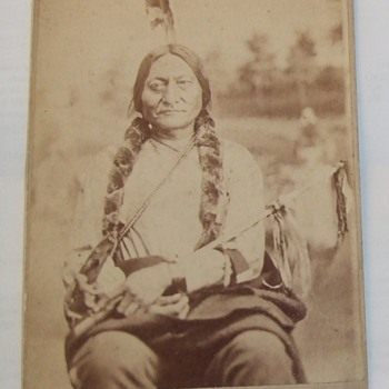 Cabinet Card of Sitting Bull - Photographs