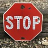 "Stop Sign With Reflectors 24"" ....Porcelain"
