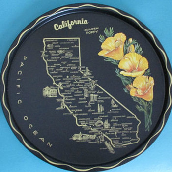 Any idea who made these vintage trays and when? - Advertising