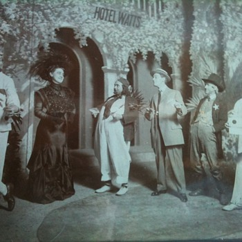 help identifying antique theatre photo - Photographs