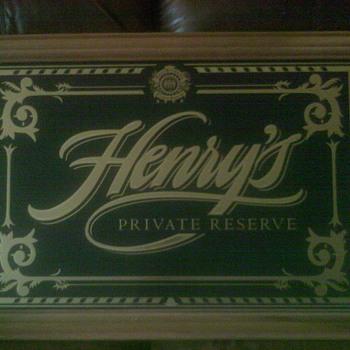 Henry Weinhard beer sign