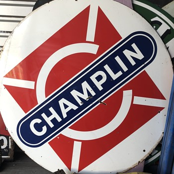 Nice Champlin Porcelain Sign - Signs