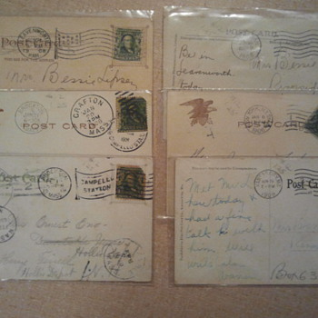Lot 7- Early 20th century stamps and post cards