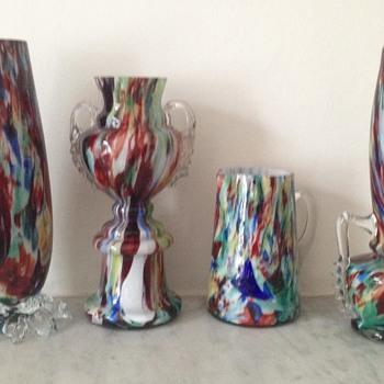 Welz quartet and a message in a bottle - Art Glass