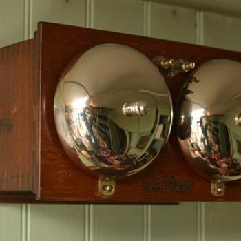 "New England Telephone & Telegraph Company TYPE ??? ringer w/ 4"" gongs - Telephones"