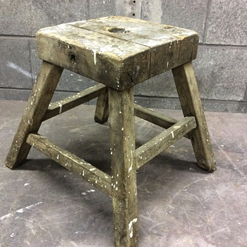 Old wooden stool possible clamp or tool - Tools and Hardware