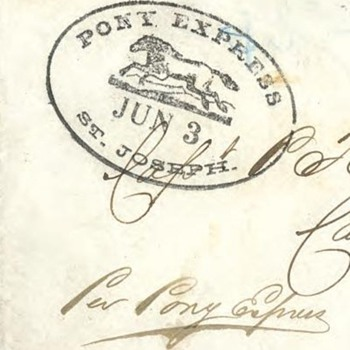 Pony Express Cover - just turned 150 years old - Stamps