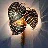 Maison Jansen  Monstera Palm Leaf Wall Lamp
