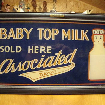 Associated Dairy Baby Top Milk Lighted Sign.... - Bottles