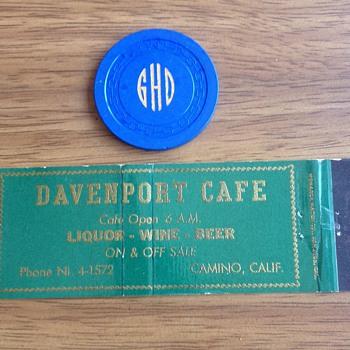 Rare California 2.50 Monogramed Casino Chip