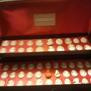 Italian Cameo Specimen Box - Fine Jewelry