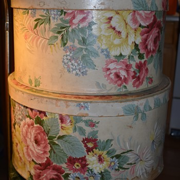 Two Large Hat Boxes by Stor Aid - Bags