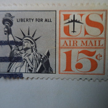 Orange & Black Statue of Liberty 15¢