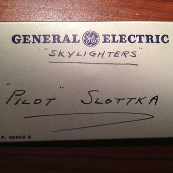 GE Skylighters nametag - Advertising