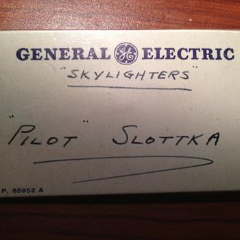 GE Skylighters nametag - Advertising