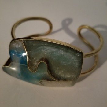Unusual Brass Cuff - Costume Jewelry