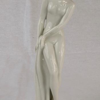 Czechoslovakia Porcelain Figurine of Young Woman  - Figurines