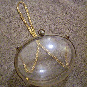 Pre-Judith Lieber Vintage Lucite Egg-Shaped (Bubble) Purse, Help?? - Bags