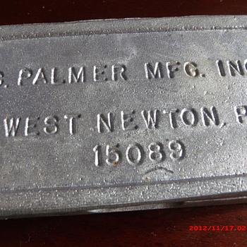 Vintage Palmer 853 In-Line Lead Sinker Mold - Fishing