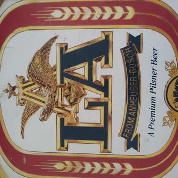 "LA "" Low Alcohol "" Beer Sign - Breweriana"
