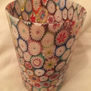 Millefiori Art Glass Tumbler  - Art Glass