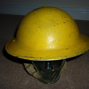 British WW11 Anti Gas Wardens helmet