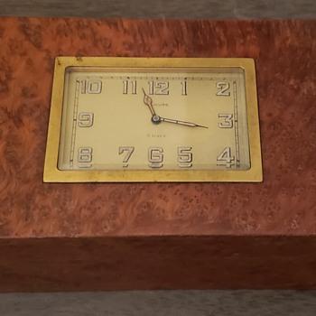French Burlwood Clock Box - Clocks