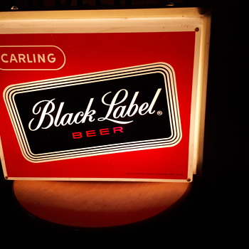 1960's carling Black label light up. - Breweriana