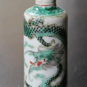 Green Dragon Snuff Bottle