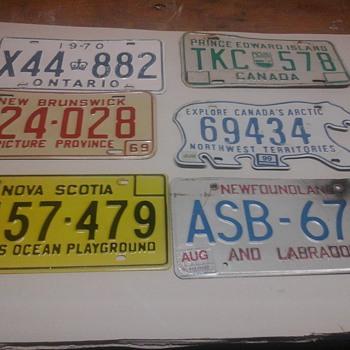Vintage license plate