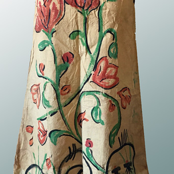 Vintage Painted Paper Dress likely from Greenwich Village. Beatnik or Hippie. - Womens Clothing