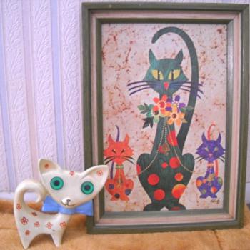 La Vada Vintage Cat Print - Animals
