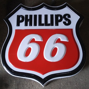30 inch lighted sign - Petroliana