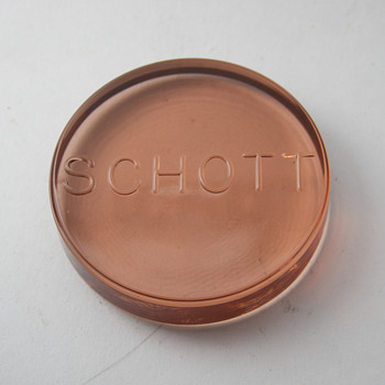 Schott Glass Paperweight - Advertising