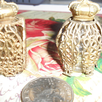 miniature filagree perfume bottles....origin unknown - Bottles