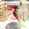 miniature filagree perfume bottles....origin unknown
