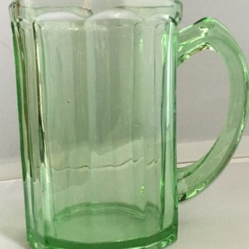 Vintage glass tankard  - Glassware