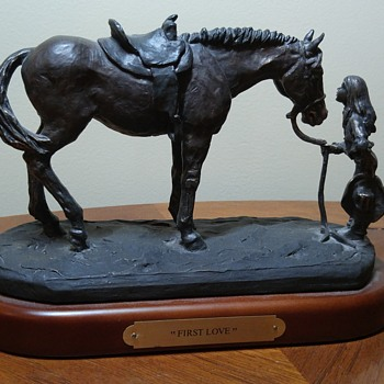 """Horse statue """"First Love"""" by Montana Silversmiths"""