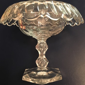Crystal Fruit Bowl Rolled Rim ID? DATE?