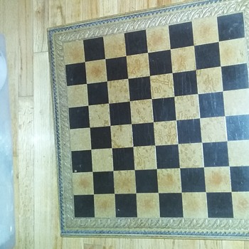 Lion's Leg Chessboard table w/2 chairs