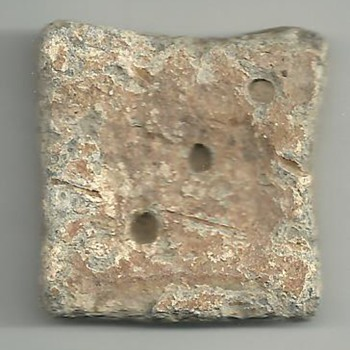 Unknown ancient weight? Square three dots