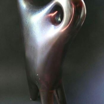 Giorgio Ferro Anse Volante vase red iridato - Art Glass