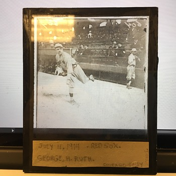 Babe Ruth Magic Lantern Slide (Red Sox) - Baseball