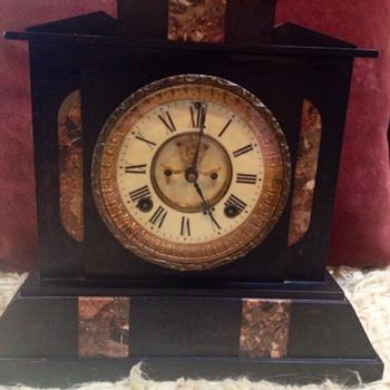 Antique Ansonia Mantel Clock - Clocks