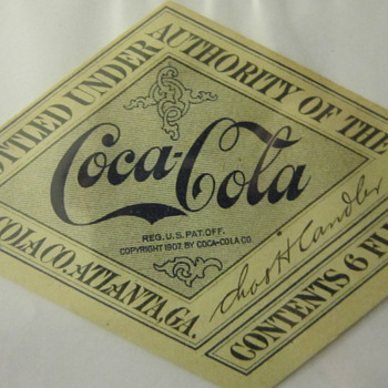 Found a bunch of these 1917-19 Coca-cola bottle labels on eBay
