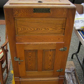 """""""Coldair"""" Wooden Icebox from """"The Boston Store"""" - Kitchen"""
