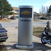 8FT  TALL CHEVROLET DEALER SHOWROOM SIGN